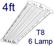 4ft T8 High Bay Fluorescent Fixture