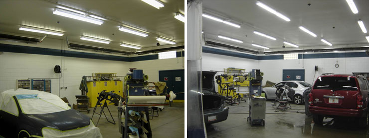 Positive color-matching for auto body shops and paint spray booths