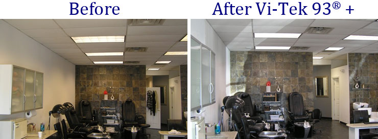 Beauty Salon Lights Before and After