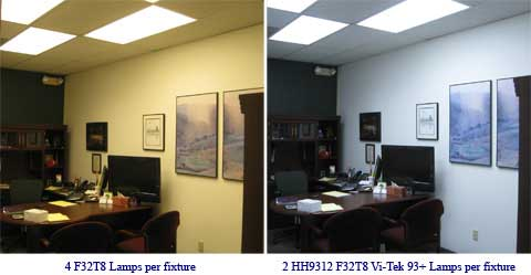 Before and After Vi-Tek 93 Plus daylight lights